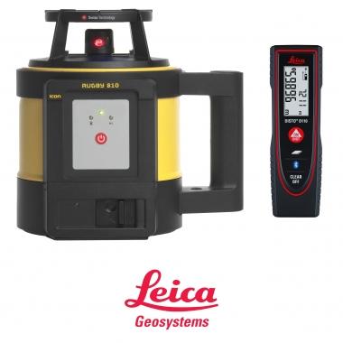 Niwelator laserowy Leica Rugby 810 + Detektor Rod Eye + Dalmierz GRATIS