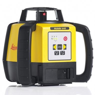 Niwelator Laserowy Leica Rugby 640 + detektor Rod Eye