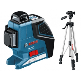Laser krzyżowy BOSCH GLL 3-80 Professional + Statyw BS 150