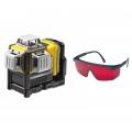 Laser samopoziomujący DeWALT DCE089D1R - 3 wiązki 360° / Bosch GLL 3-80 + okulary laserowe